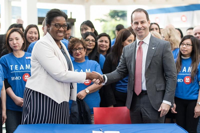 BMO Groupe financier devient la première banque canadienne à signer les Principes d'autonomisation des femmes de l'ONU